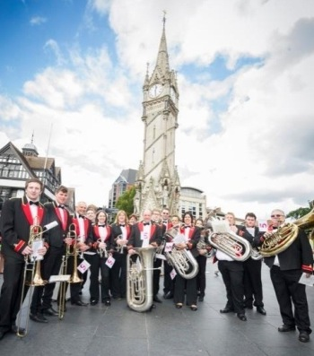 Enderby Band at the Clock Tower, Leicester